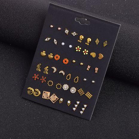 Nuevos pendientes salvajes retro simples pendientes de oro geométricos juego de 24 pares NHSD274595's discount tags