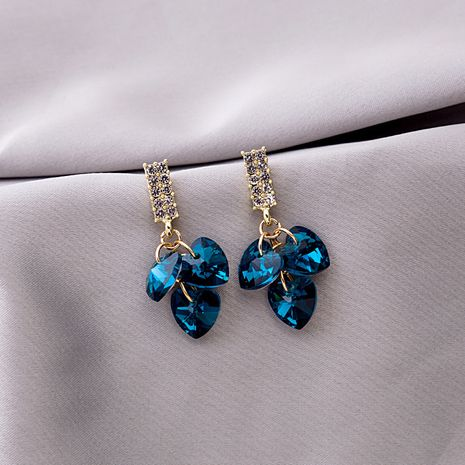 925 silver needle blue crystal zircon earrings  NHXI274615's discount tags
