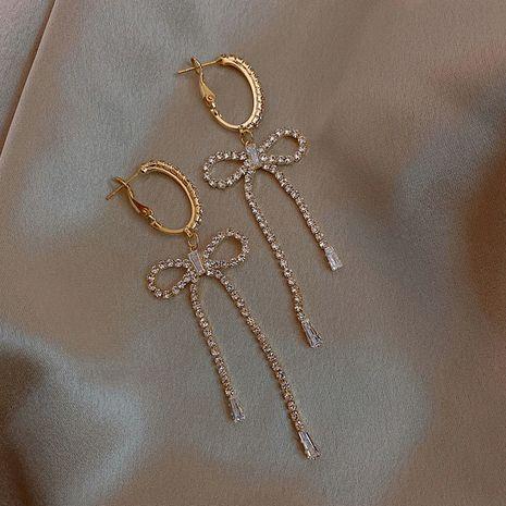 Boucles d'oreilles noeud coréen en argent sterling NHXI274617's discount tags