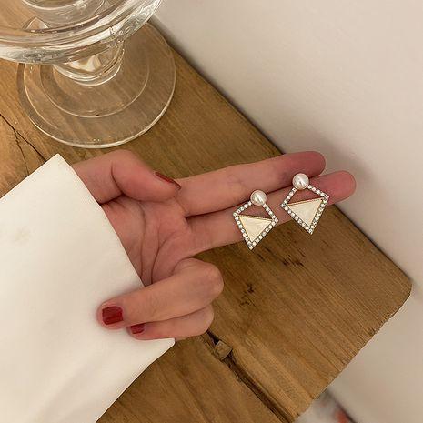 Boucles d'oreilles diamant géométriques aiguilles en argent 925 NHXI274618's discount tags