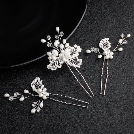New Korean  handmade pearl simple  retro hairpin  NHHS274641's discount tags