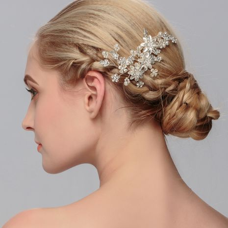 peigne à cheveux perle plaque insérée à la main NHHS274642's discount tags