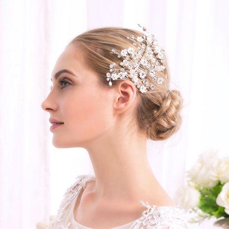 Nouveau peigne à fleurs en cristal perlé fait à la main NHHS274647's discount tags