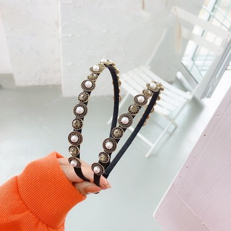 Korean Baroque full diamond hair band NHSM274190's discount tags