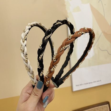 Korean simple twist braid headband NHSM274207's discount tags