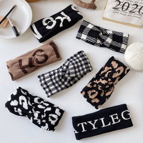Bandeau coréen en laine tricotée simple NHSM274210's discount tags