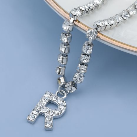 fashion simple acrylic diamond letter R pendant necklace NHJE274770's discount tags