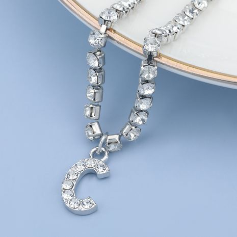 fashion simple acrylic diamond letter C pendant necklace NHJE274776's discount tags