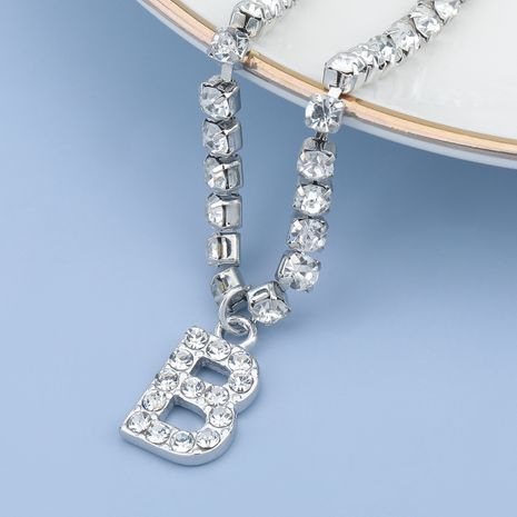fashion simple acrylic diamond letter B pendant necklace NHJE274788's discount tags