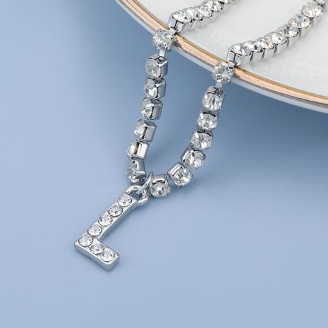 fashion simple acrylic diamond letter L pendant necklace NHJE274790's discount tags