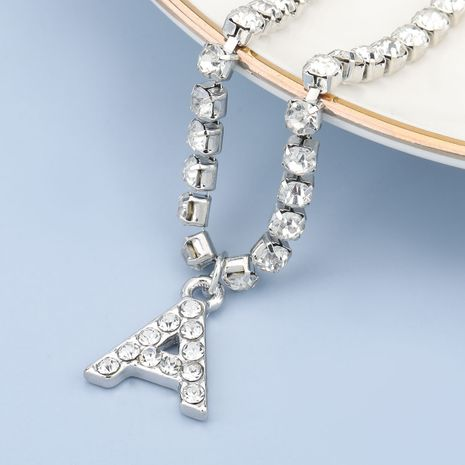 fashion simple acrylic diamond letter A pendant necklace NHJE274796's discount tags