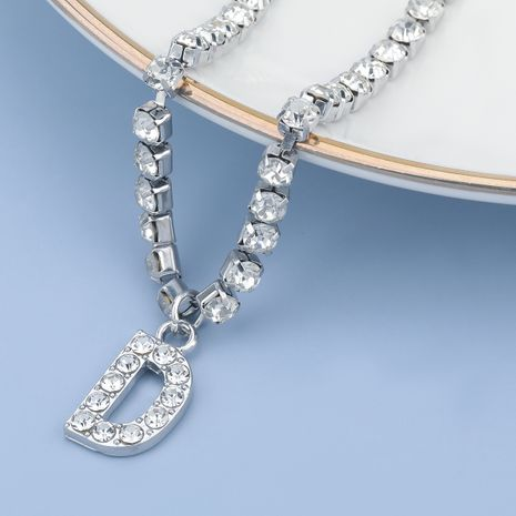 fashion simple acrylic diamond letter D pendant necklace NHJE274798's discount tags