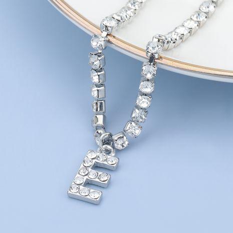 fashion simple acrylic diamond letter E pendant necklace NHJE274799's discount tags