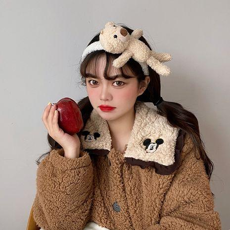 Korean plush bear headband NHCQ274288's discount tags