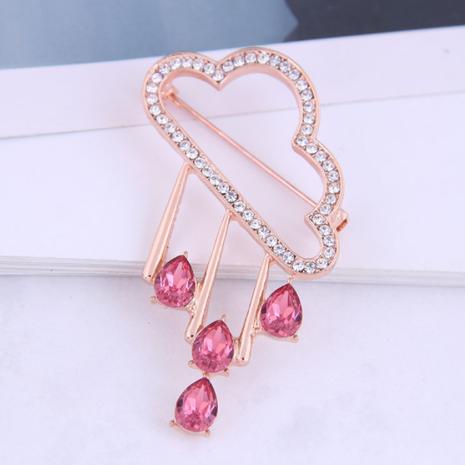 Version coréenne de la mode et broche pluie nuage concise sertie de diamants NHSC274488's discount tags
