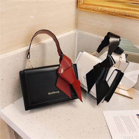 fashion one-shoulder bow small square bags NHRU274870's discount tags
