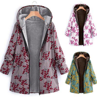 veste matelassée en coton épaissi à capuche zippée à manches longues pour femme NHYF274958's discount tags