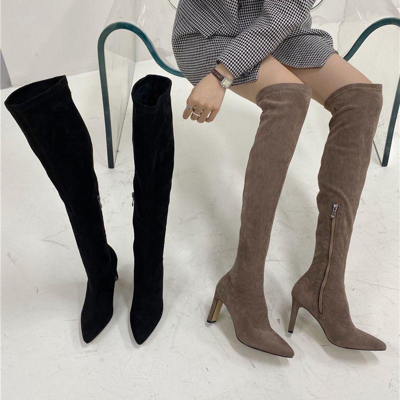 bottes pour femmes  talons hauts en daim NHSO274972