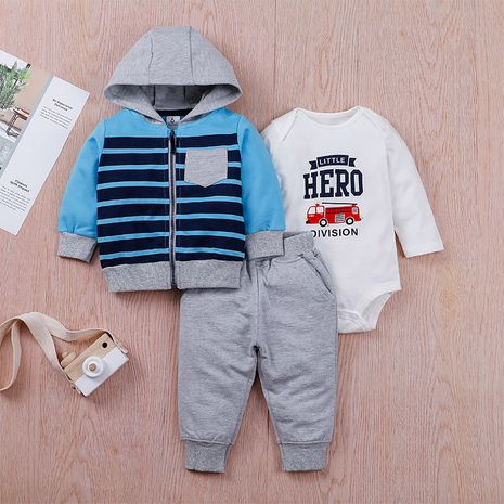 new  baby zipper jacket  dress  trousers three-piece  suit NHLF275115's discount tags