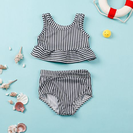 new  children's wear sleeveless triangle swimsuit suit NHLF275122's discount tags