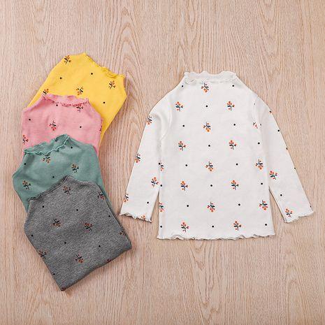 Camiseta de cuello alto estampada para niños de otoño NHLF275126's discount tags