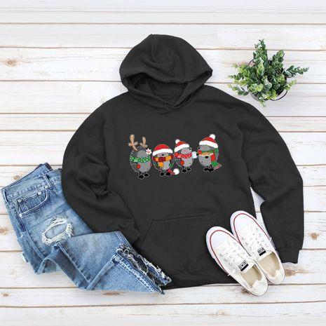 Pull ample à capuche de Noël grande taille NHSN275157's discount tags