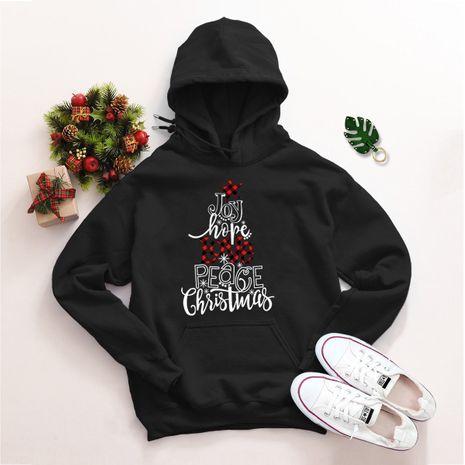 Pull ample à capuche de Noël grande taille NHSN275158's discount tags