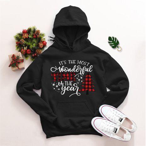 Pull ample à capuche de Noël grande taille NHSN275163's discount tags