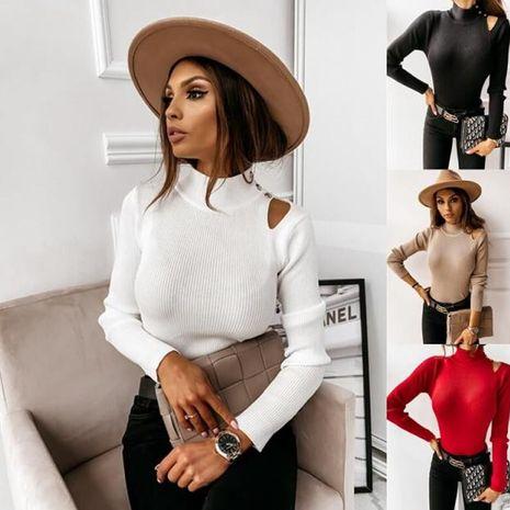 Chemise sexy à manches longues à manches longues et à boutons pour femmes d'automne et d'hiver NHWA275195's discount tags