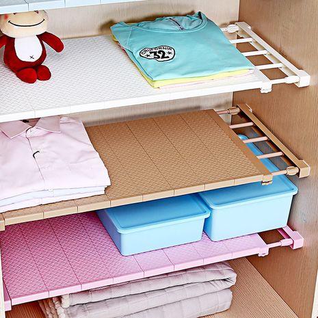 Nagelfreie Garderobe geschichtete Trennwände Garderobe Ablagefach Regal Klammern zufällige Farbe NHNU275365's discount tags