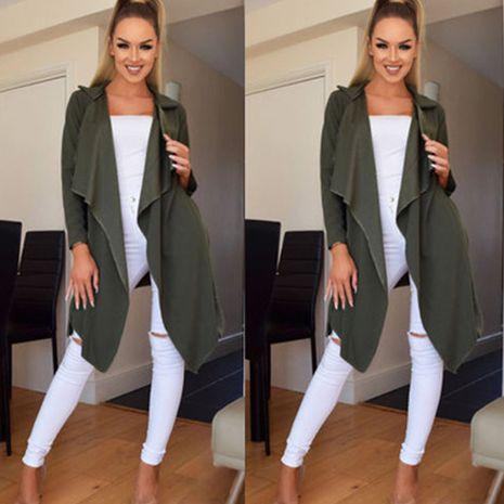 Automne femmes tempérament revers neige velours couleur unie dentelle veste à manches longues femmes NHWA275187's discount tags