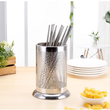 Household stainless steel mold-proof chopsticks bucket drain box NHNU275354's discount tags