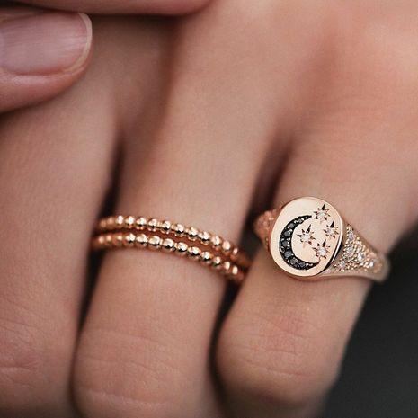 anillo de diamantes lleno de estrella de luna de moda NHAJ275388's discount tags