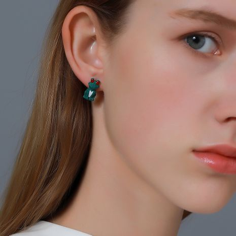 New cute cartoon frog earrings NHDP275411's discount tags