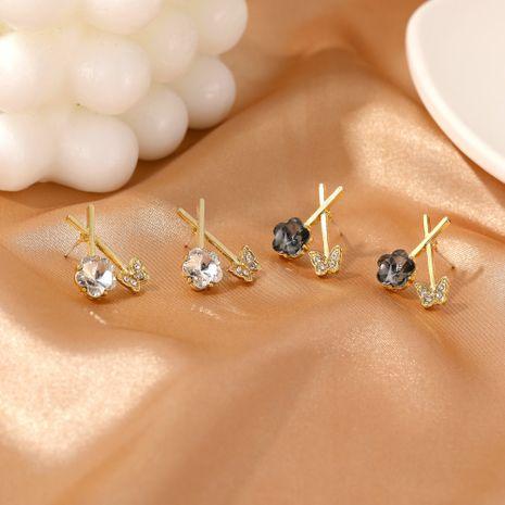 Korean  new  butterfly flower earrings NHDP275430's discount tags