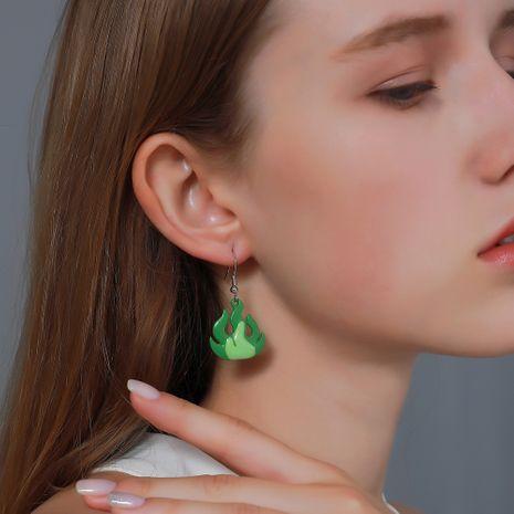 boucles d'oreilles flamme acrylique dessin animé de mode NHDP275436's discount tags
