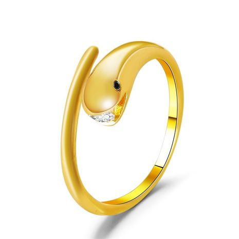 simple snake-shaped cute zircon opening adjustable ring  NHDP275476's discount tags