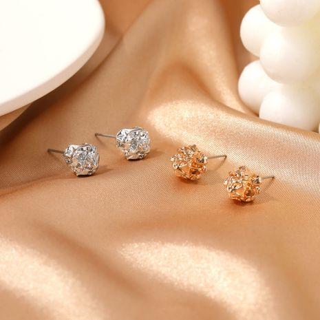 new  irregular metal fold earrings  NHDP275478's discount tags