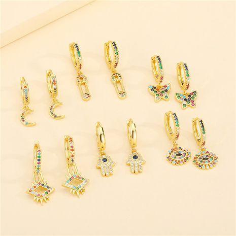nouvelles boucles d'oreilles en diamant de couleur rétro bohème NHGO275494's discount tags