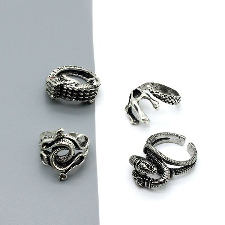retro punk gothic eagle claw lizard snake open ring NHGO275501's discount tags