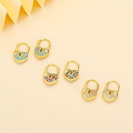 Boucles d'oreilles cadenas en forme de coeur Corée NHGO275505's discount tags