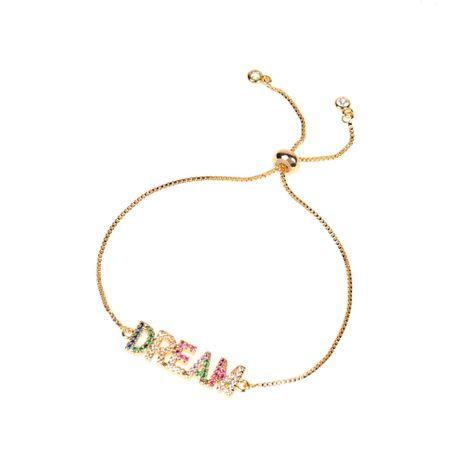 fashion copper micro diamond English letter bracelet  NHPY275528's discount tags