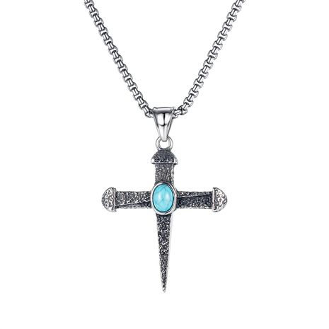 retro fashion cross titanium steel necklace  NHOP275541's discount tags