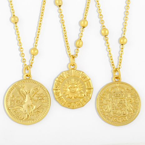 50 pesos gold coin necklace NHAS275576's discount tags