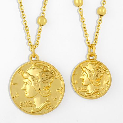 simple coin pendant necklace NHAS275580's discount tags
