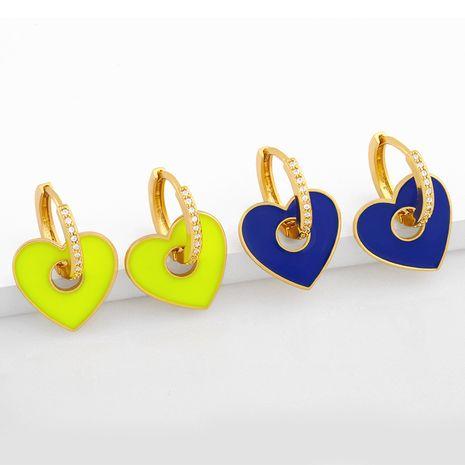 nouvelle couleur multicolore boucles d'oreilles coeur pêche NHAS275585's discount tags