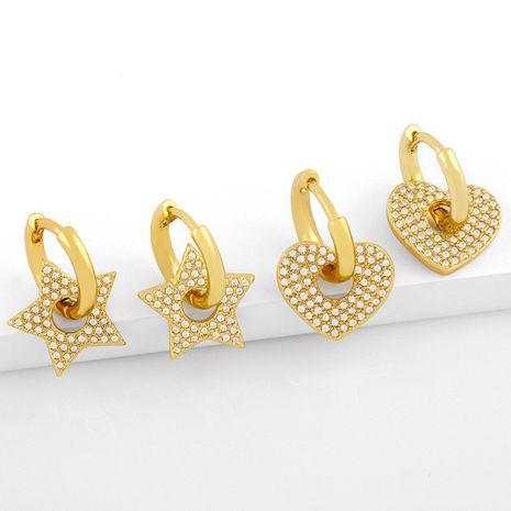 nouvelles boucles d'oreilles en diamant d'amour NHAS275588's discount tags