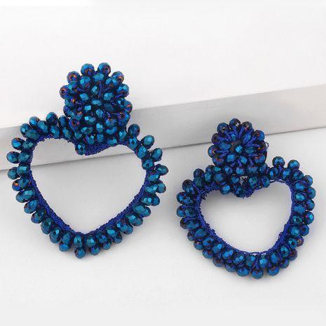 nouvelle mode à la mode en forme de coeur perles de riz tissées à la main boucles d'oreilles coeur pêche NHAS275591's discount tags