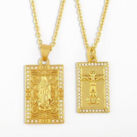 collier pendentif la Vierge Marie en plaqué or NHAS275597's discount tags