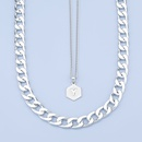 fashion simple alloy letter Y pendant twopiece necklace NHJE275629